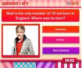 Niall Horan Quiz