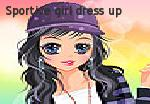 Sportive girl dress up